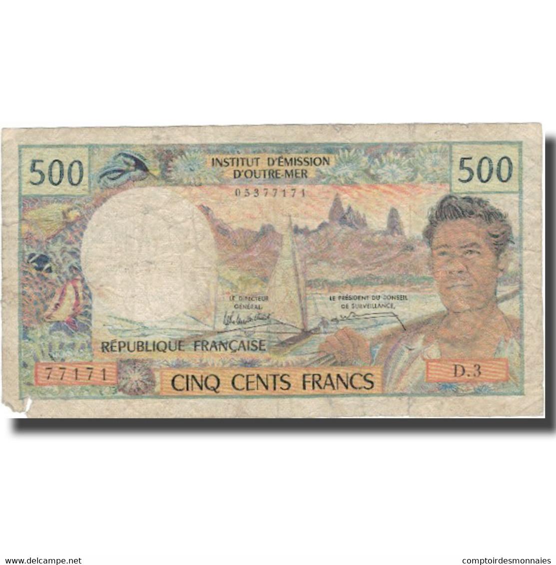 Billet, Tahiti, 500 Francs, Undated (1969-92), KM:25d, TB - Papeete (Polynésie Française 1914-1985)
