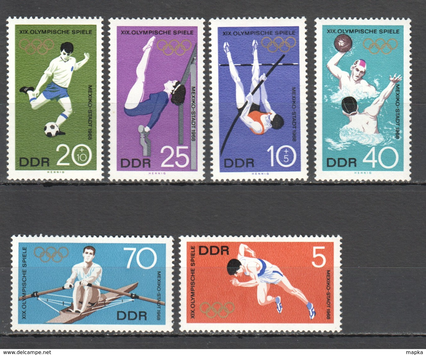 E940 ONLY ONE IN STOCK GERMANY OLYMPIC GAMES MEXICO 1968 1SET MNH - Sommer 1968: Mexico