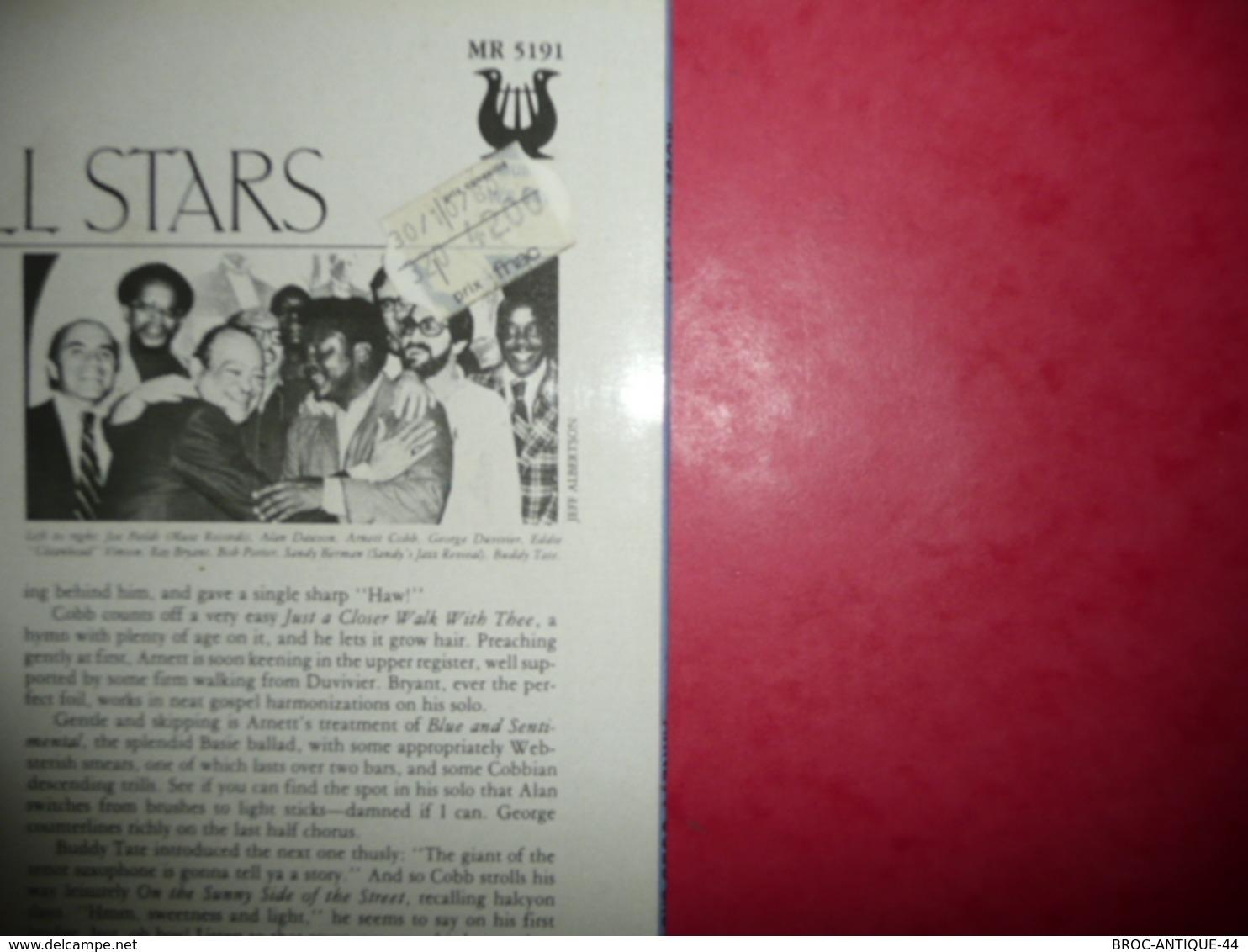 LP33 N°1352 - ARNETT COBB & MUSE ALL STARS - LIVE AT SANDY'S  ! - COMPILATION 5 TITRES - Jazz