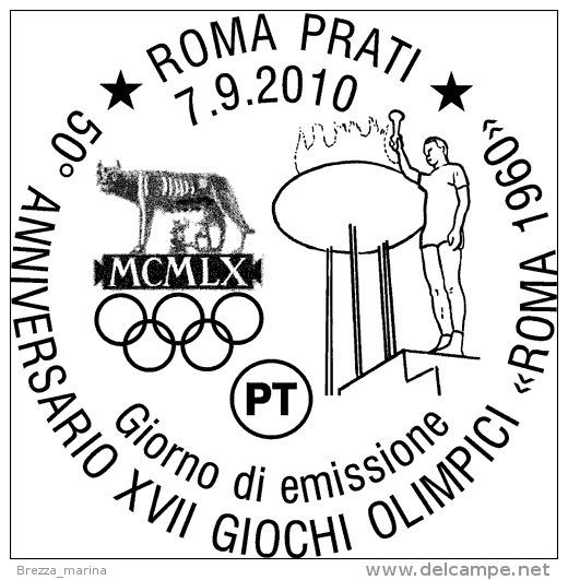 ITALIA - Usato - 2010 - 50º Anniversario Dei Giochi Olimpici Di Roma 1960 - Tedoforo - 0,60 - 6. 1946-.. Repubblica