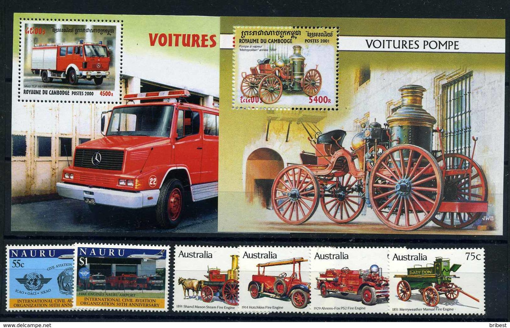 FEUERWEHR Motivmarken Lot Postfrisch (109020) - Feuerwehr