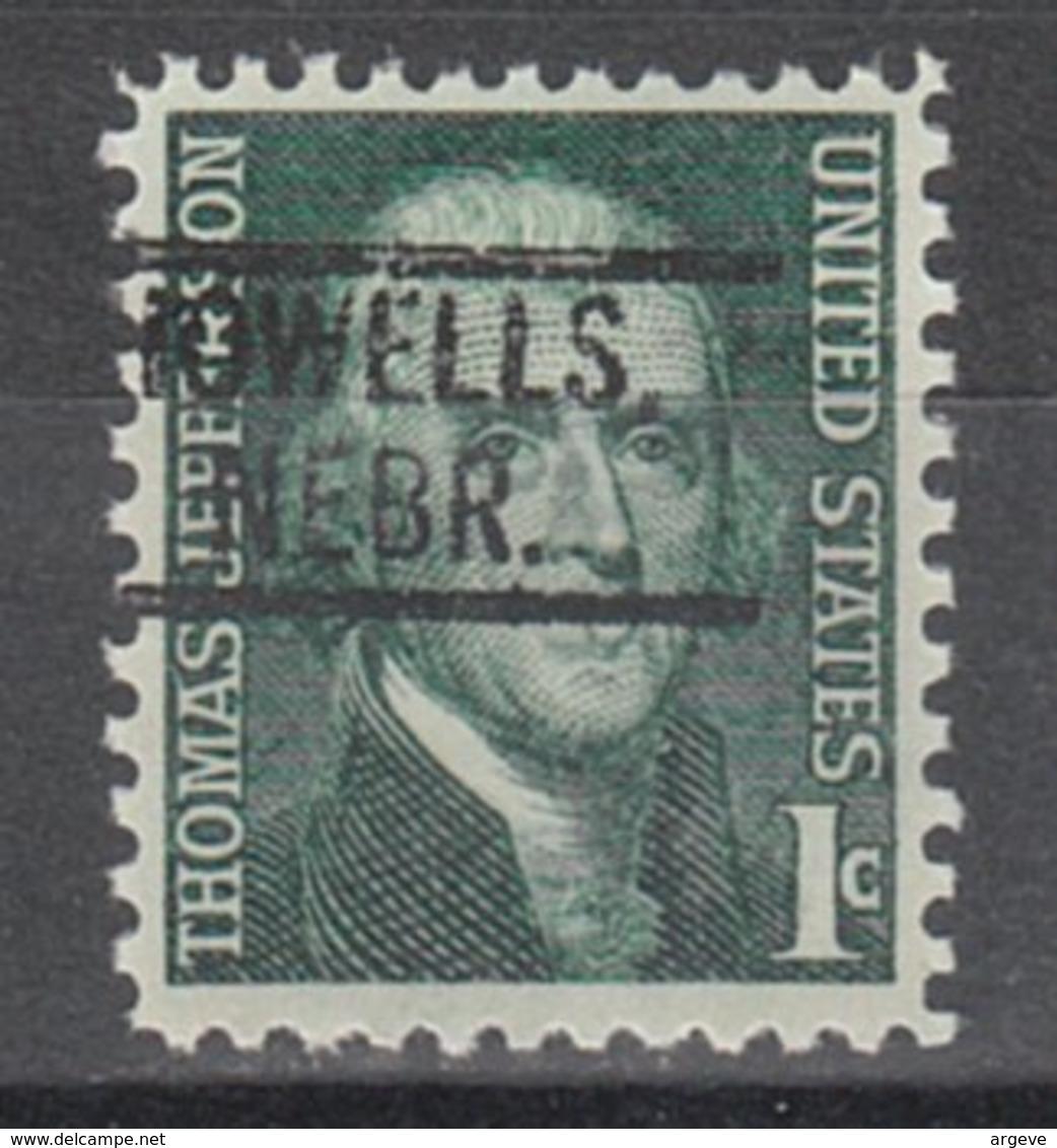USA Precancel Vorausentwertung Preo, Locals Nebraska, Howells 802 - Vereinigte Staaten