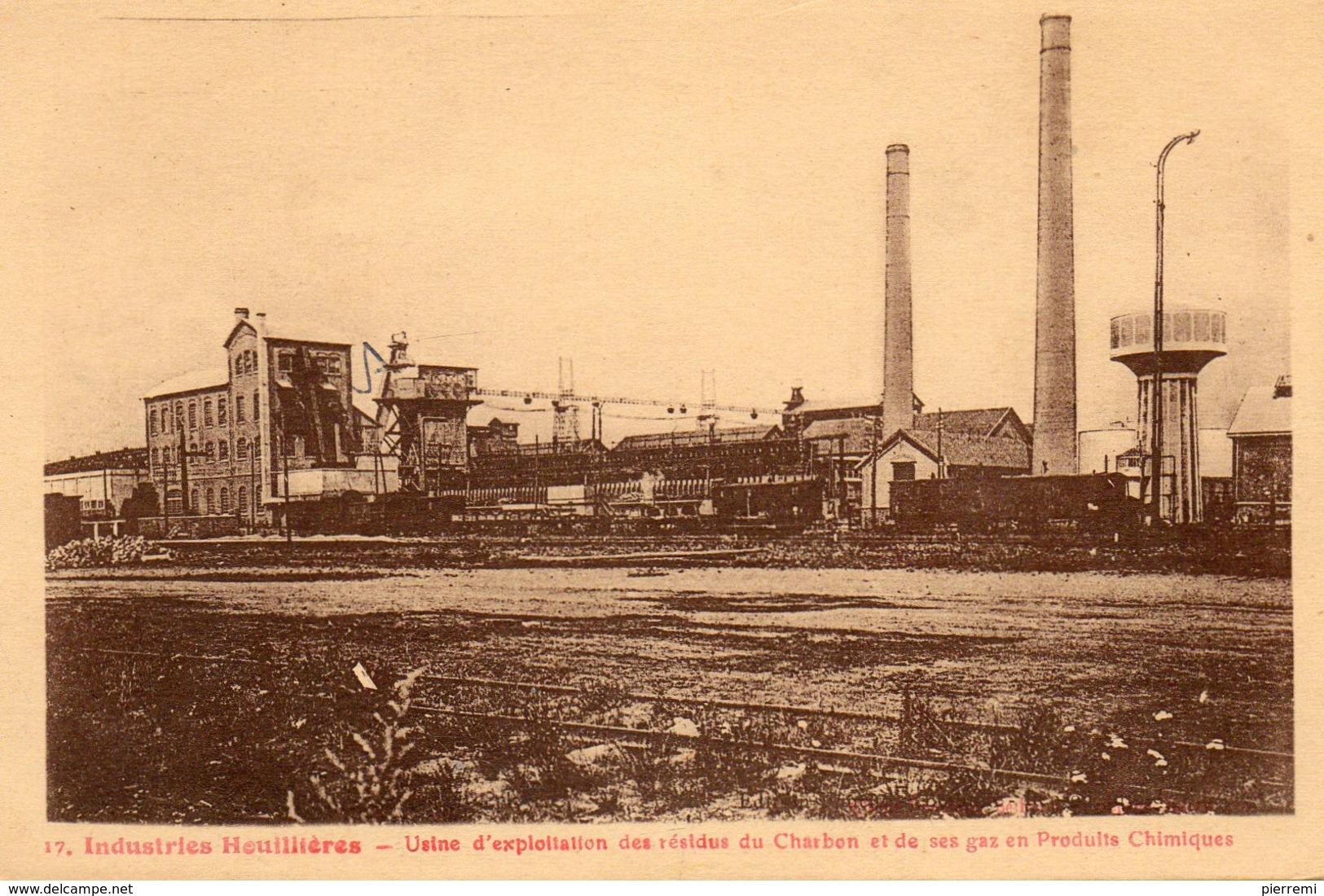 Serie Des Mineurs  No.17..imprimerie Fauchois Bethune.....usine D Exploitation..... - Mineral