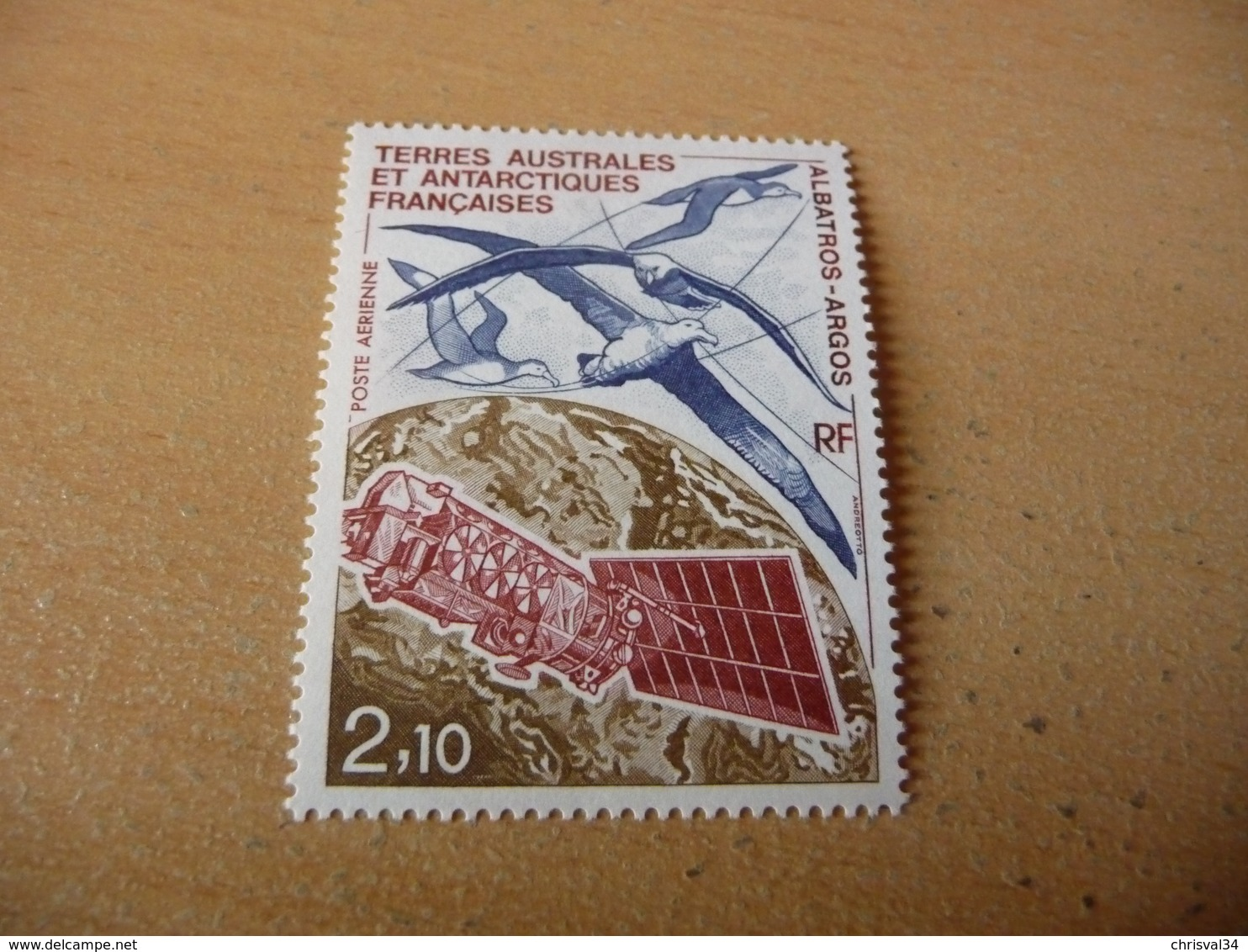 TIMBRE  POSTE  AÉRIENNE   TAAF   N  115   COTE 1,30  EUROS    NEUF  LUXE**   ANNÉE   1991 - Luchtpost