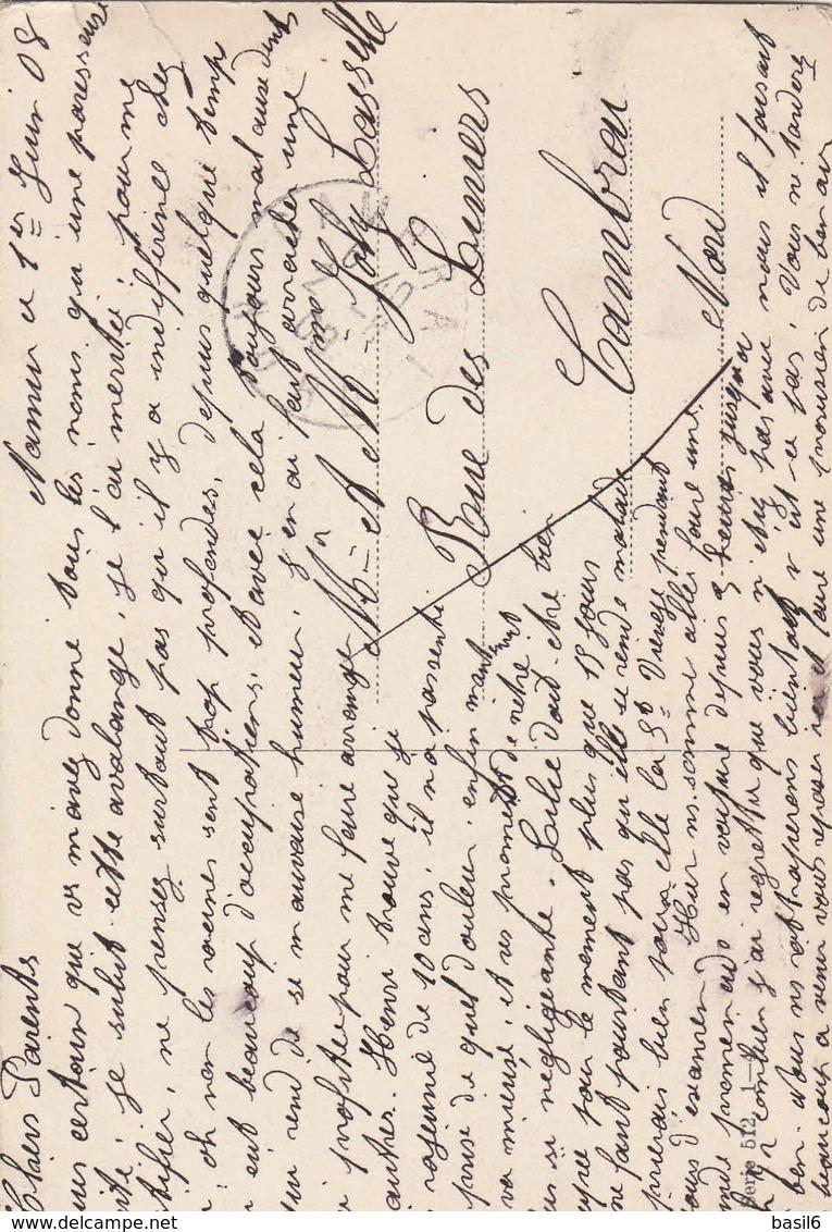 Carte Postale Envoyée De Namur Vers Cambrai En 1908 - Ganzsachen