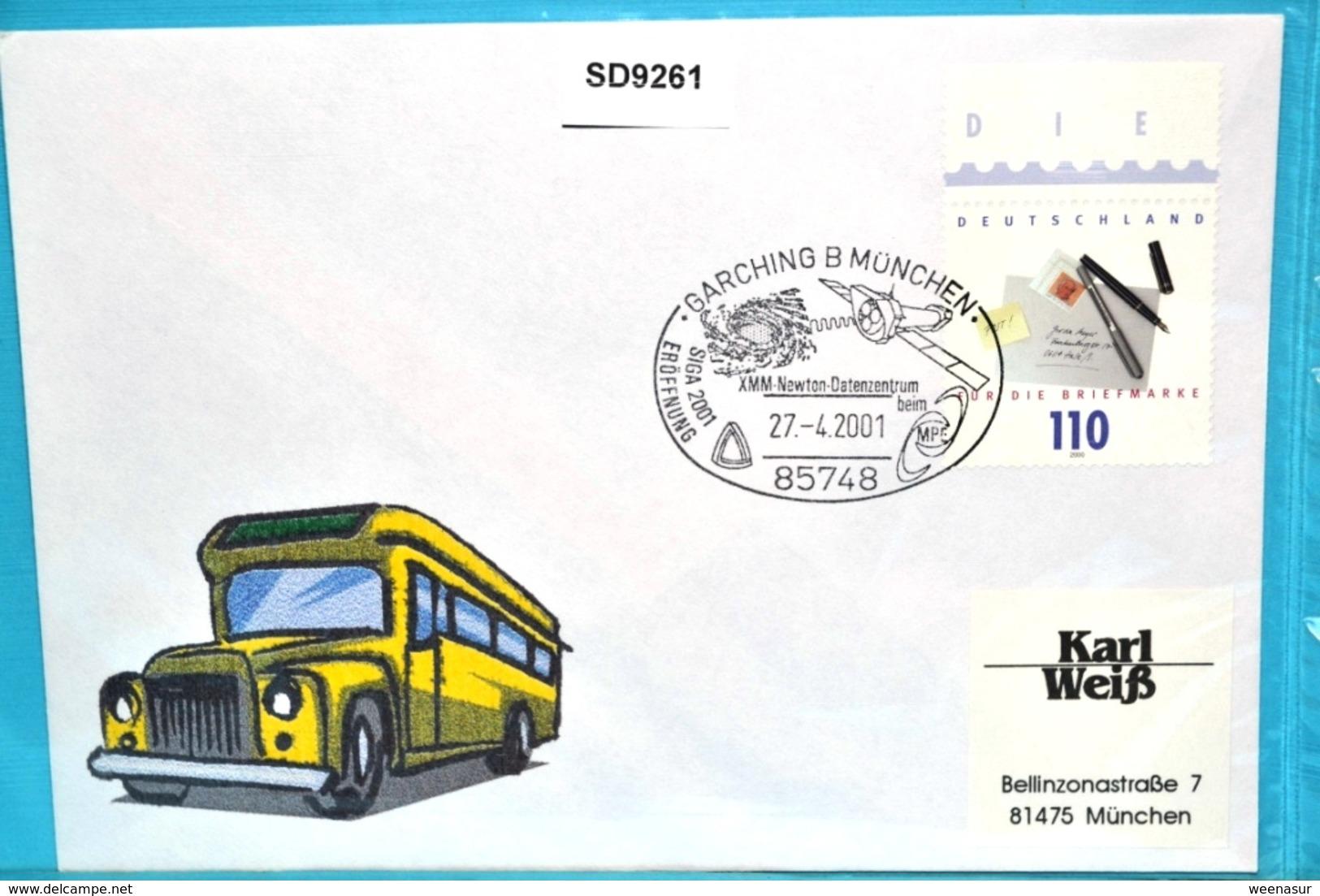 SD9261 SIGA 2000 Eröffnung, XMM Newton-Datenzentrum Beim MPE, Garching 27.4.2001 - Machine Stamps (ATM)