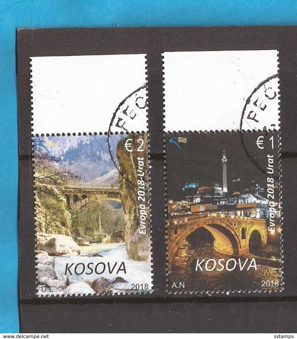 2018  EUROPA CEPT ARCHITETTURA  PONTI BRUECKEN KOSOVO  USED - Ponti