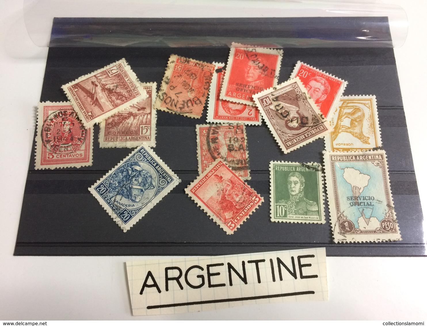 Lot Timbres Oblitérés + Neufs +surcharge Pays Monde Plusieurs Centaines Voir Photos - Stamps