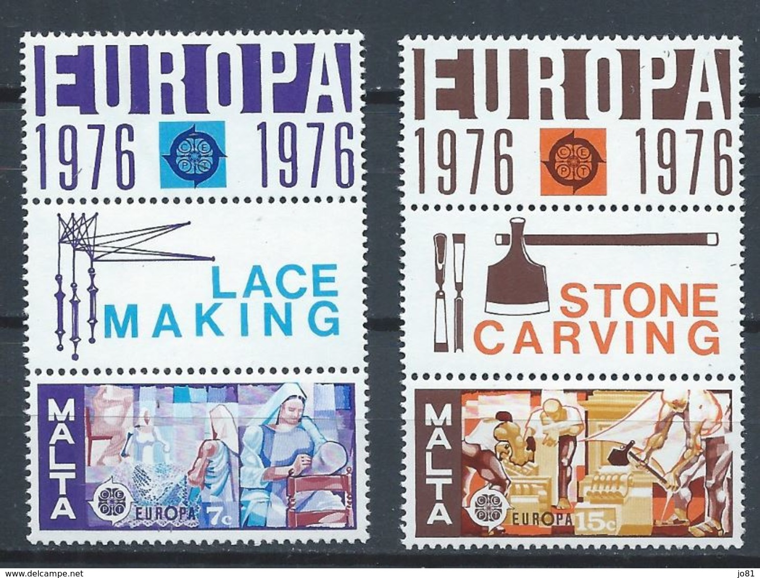 Malte YT 527-528 Avec Bandelettes XX / MNH Europa 1976 - Malta