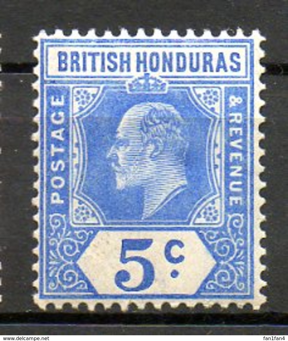 HONDURAS - (Colonie Britannique) - 1908-11 - N° 71 - 5 C. Bleu - (Edouard VII) - Honduras