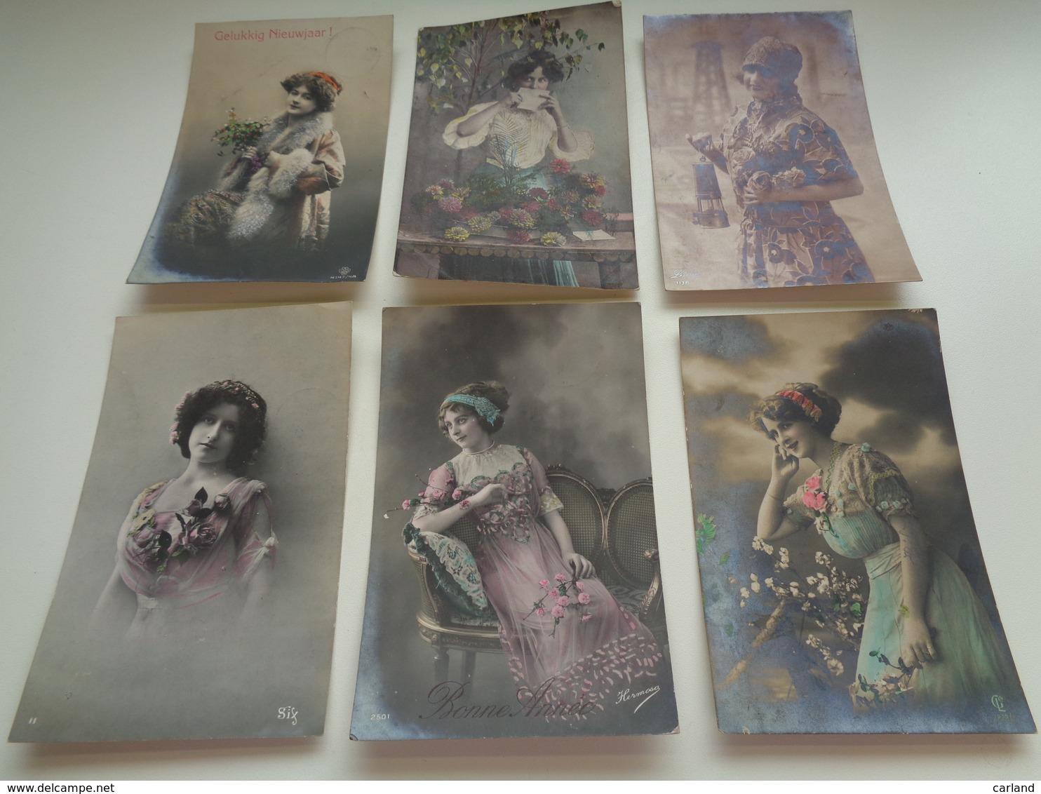 Beau Lot De 60 Cartes Postales De Fantaisie Femmes Femme   Mooi Lot Van 60 Postkaarten Fantasie Vrouwen Vrouw - 60 Scans - Cartes Postales