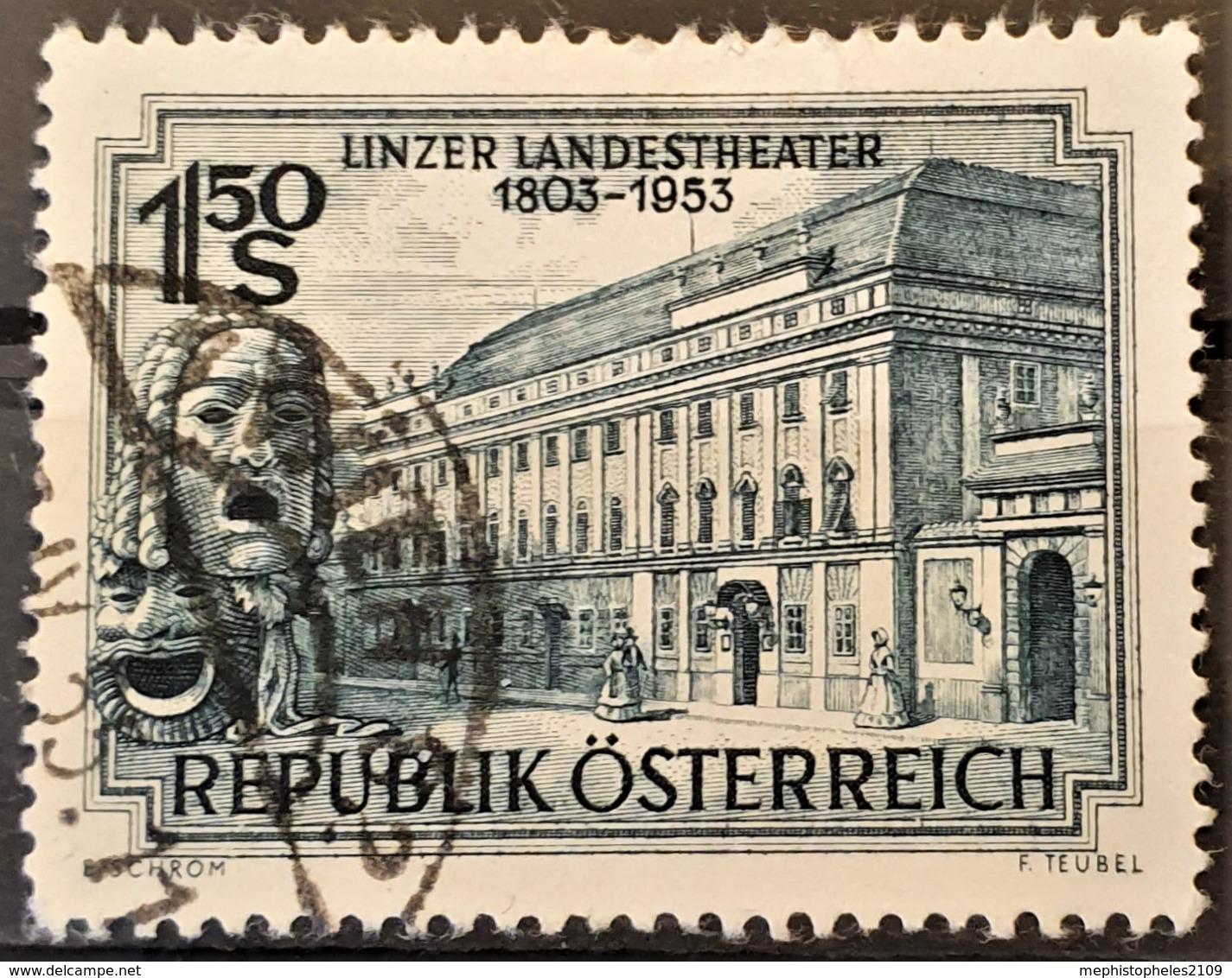 AUSTRIA 1953 - Canceled - ANK 997 - Linzer Landestheater - 1945-.... 2. Republik