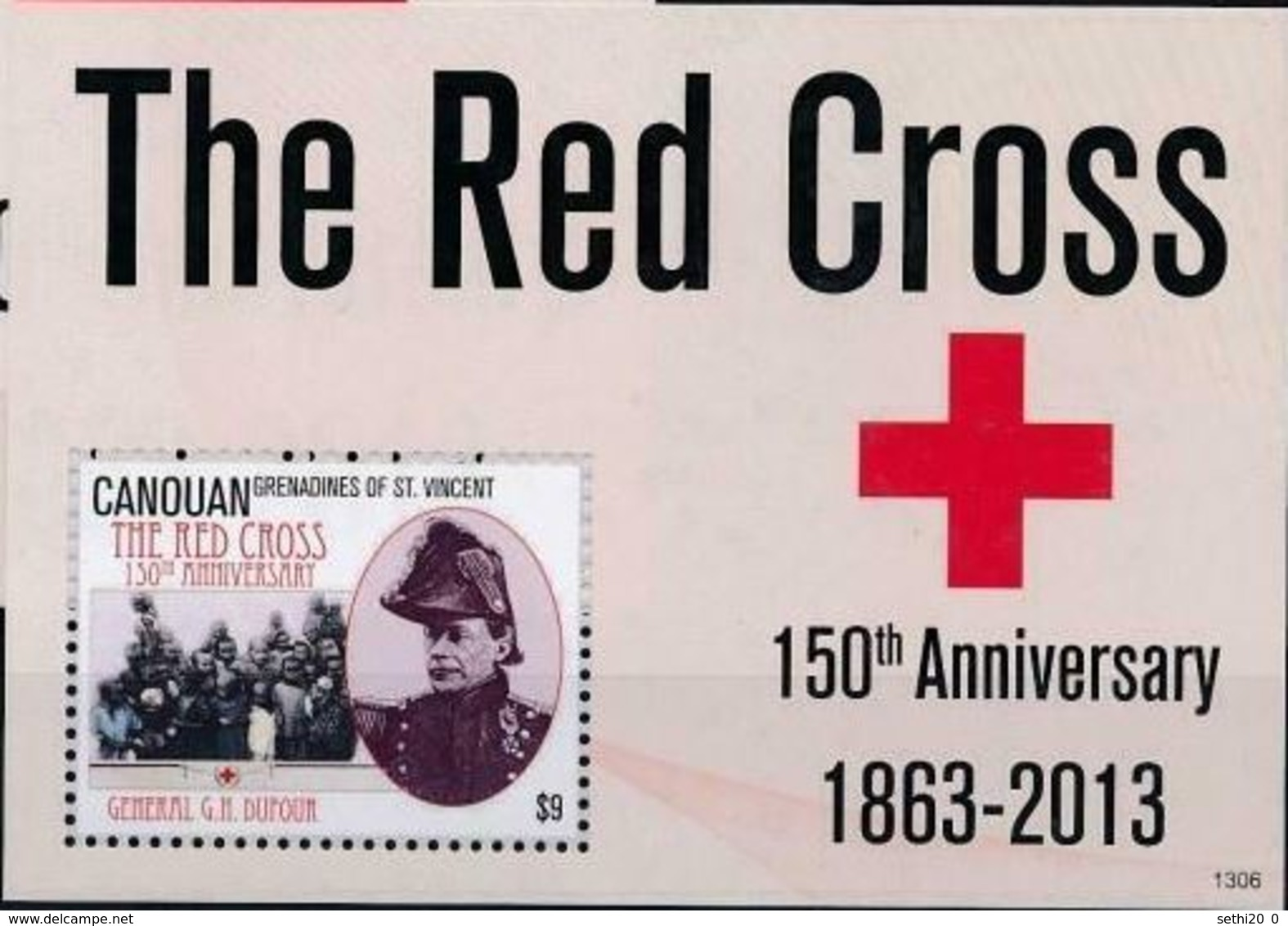 Saint Vincent Grenadines Canouan 2013 Nobel Red Cross Croix Rouge  MNH - Premio Nobel