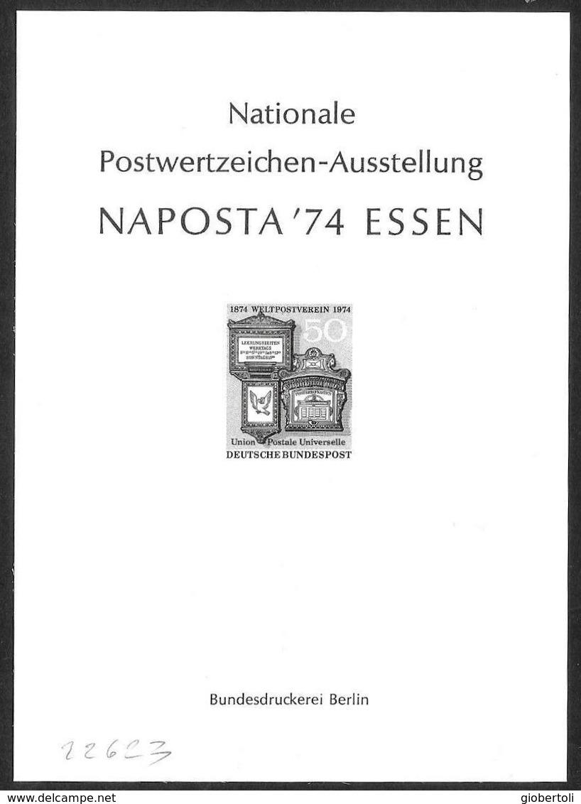 """Germania/Germany/Allemagne: Prova, Proof, épreuve, """"Naposta '74"""" - Esposizioni Filateliche"""