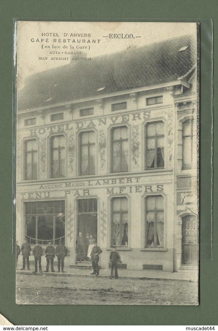CARTE POSTALE BELGIQUE EECLOO CAFE RESTAURANT HOTEL D ANVERS - Eeklo