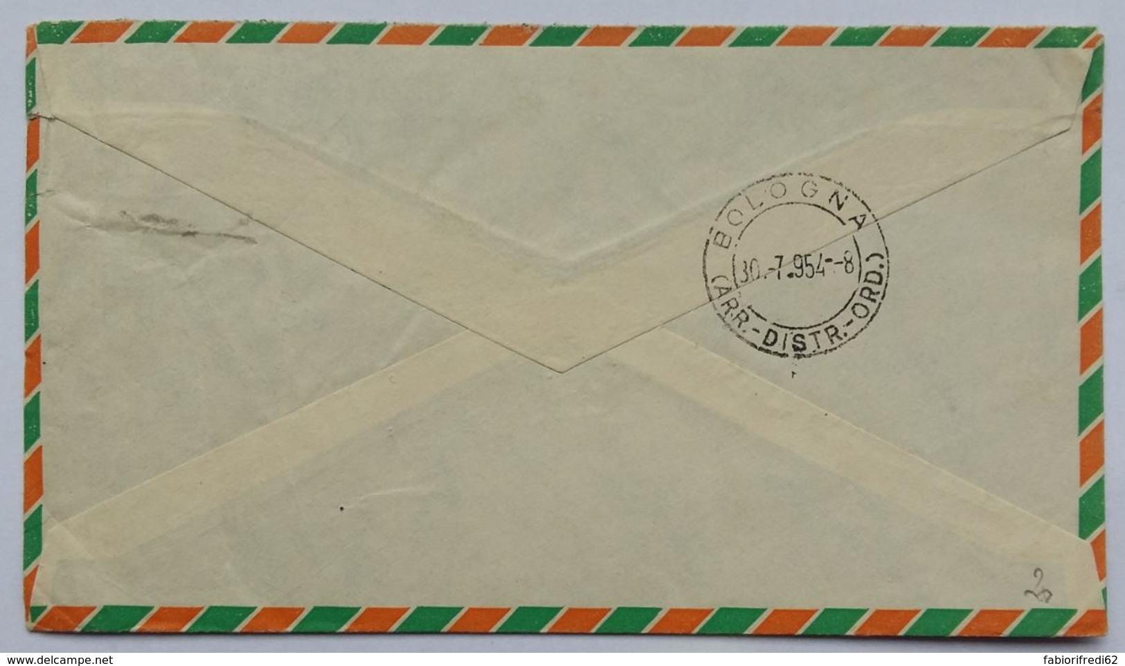 LETTERA 1954 EIRE DIRETTA BOLOGNA (AX202 - 1949-... Republic Of Ireland