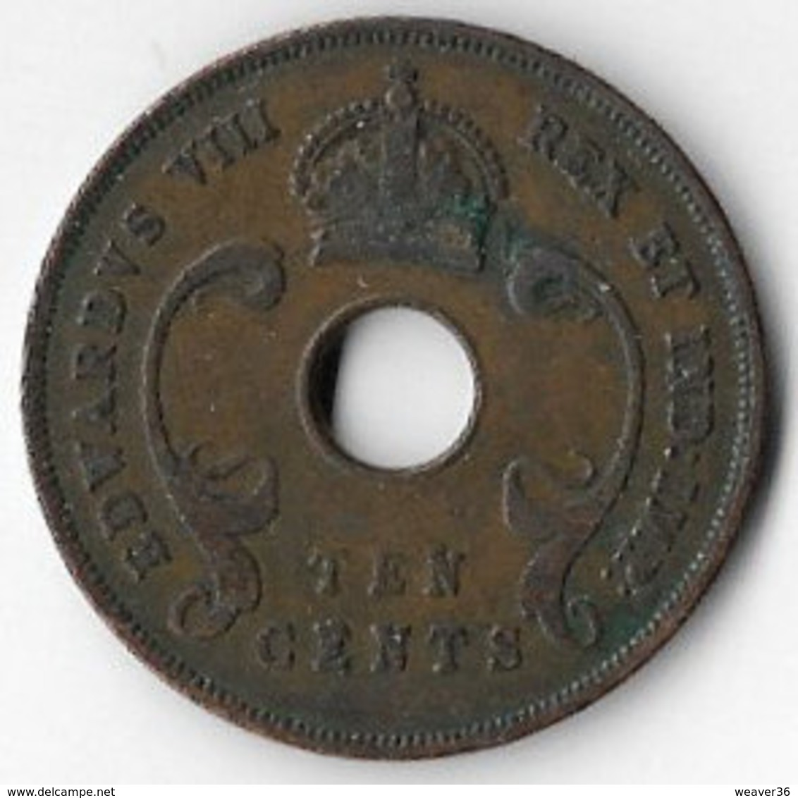 East Africa 1936 KEdVIII 10 Cents [C282/1D] - British Colony