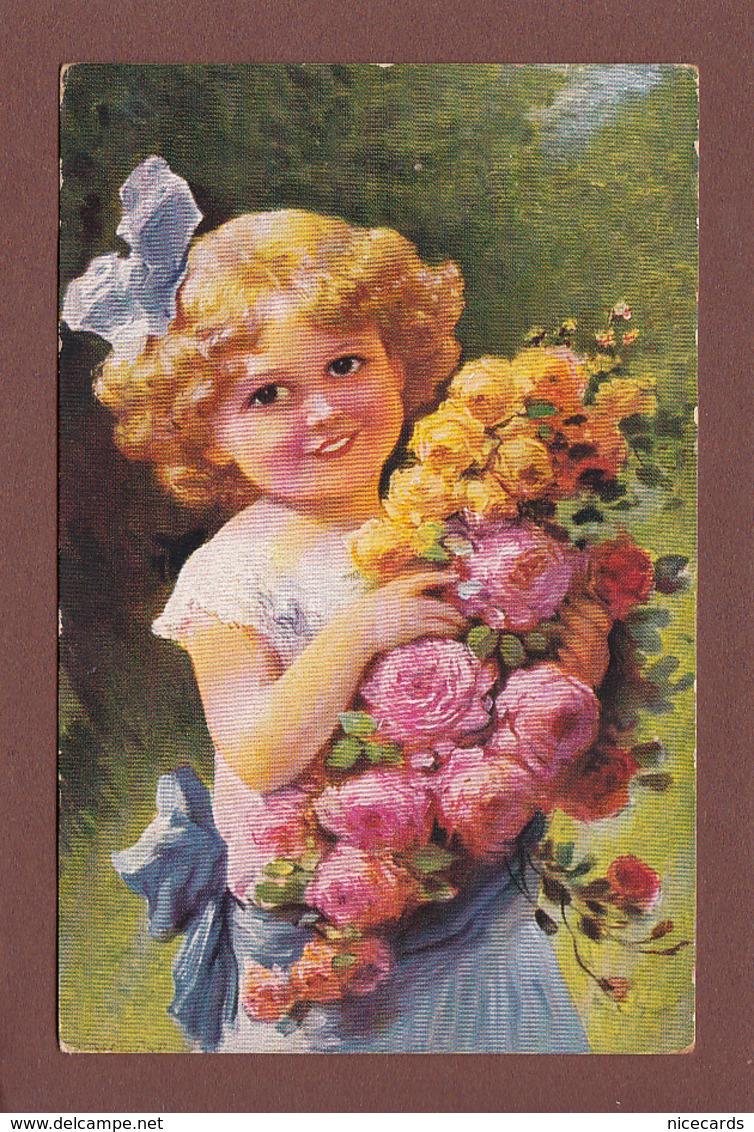 Enfant - Belle PETIT FILLE Et Fleurs - Enfants