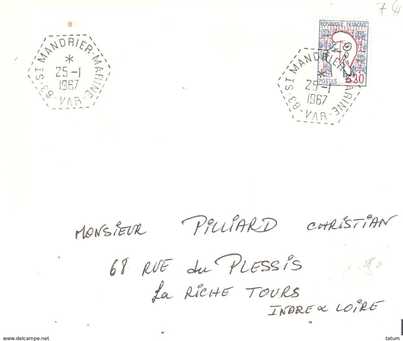 Var :- ST MANDRIER MARINE Dateur F9 - Poststempel (Briefe)