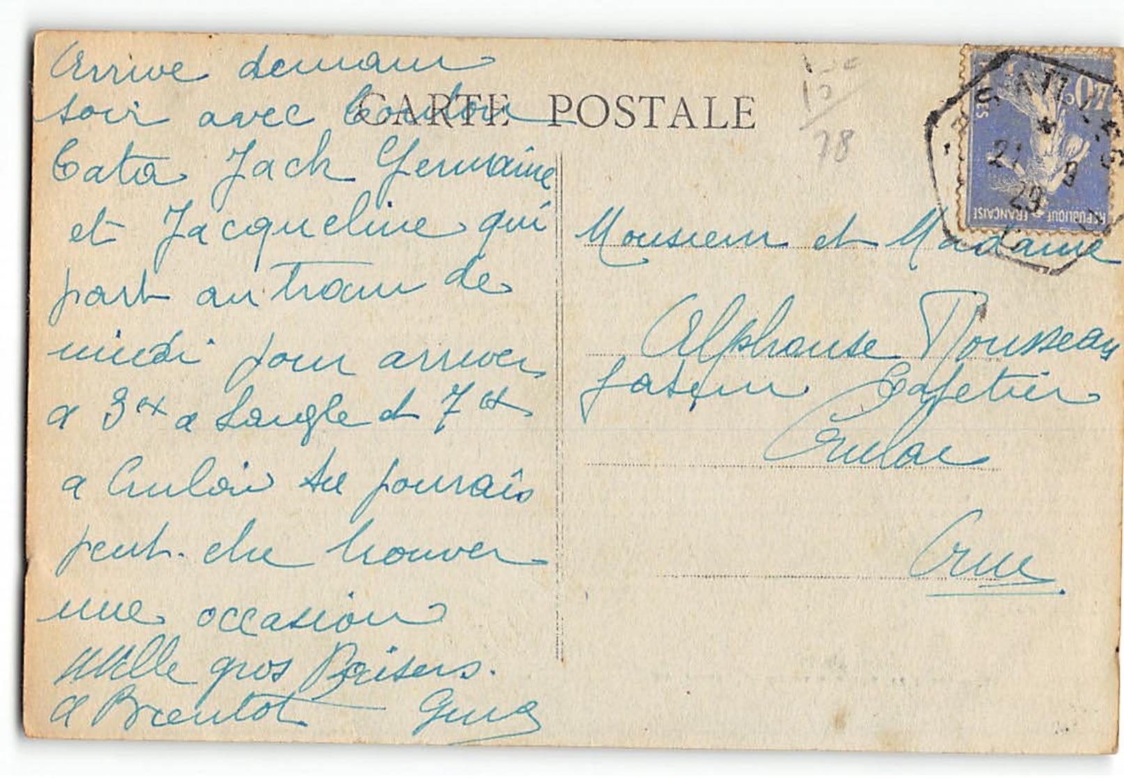 CPA 78 Porchefontaine La Poste - Francia