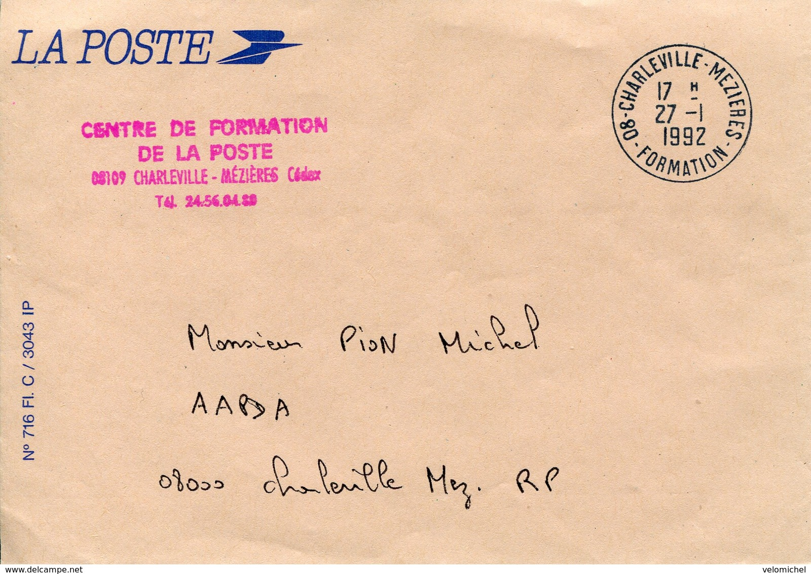 Ardennes.CHARLEVILLE-MEZIERES. 1992. Formation - 1961-....