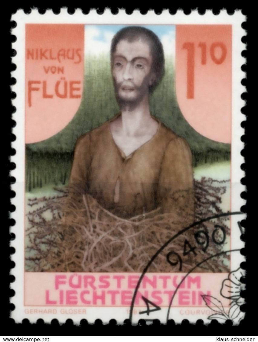 LIECHTENSTEIN 1987 Nr 918 Gestempelt SB4A096 - Liechtenstein