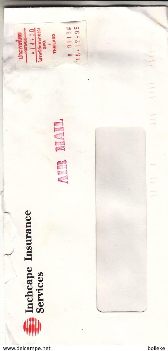 Thailande - Lettre De 1995 - Avec Vignette D'affranchissement - - Thaïlande