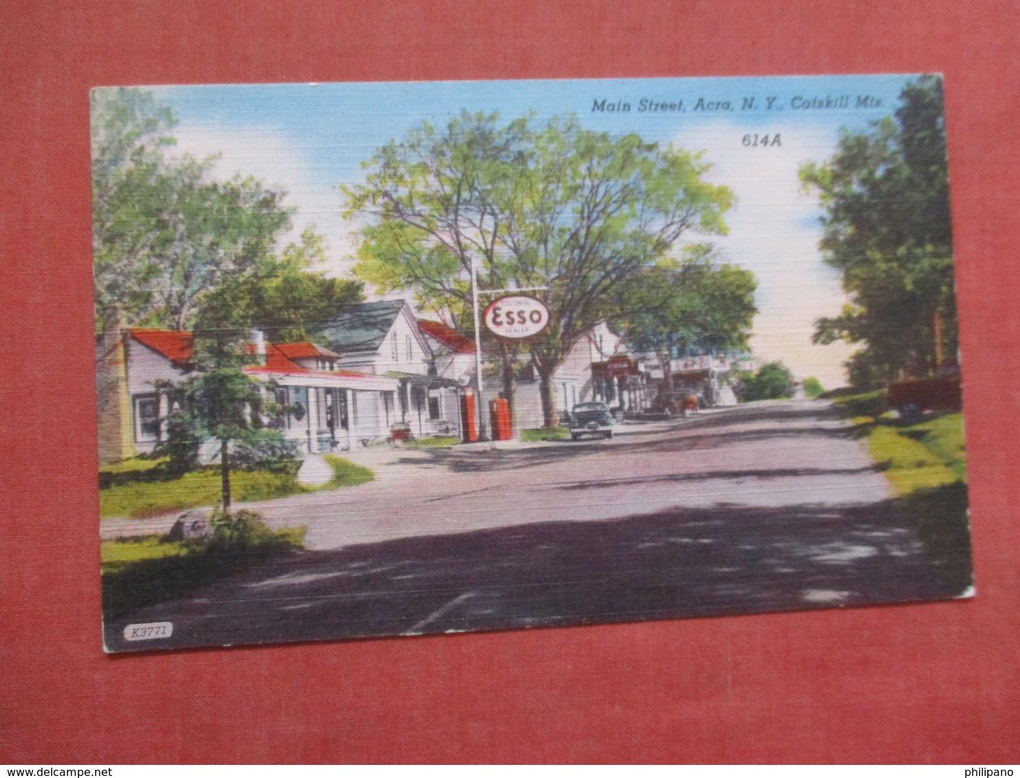Esso Gas Station New York >    Catskills  Mountains    Ref  3848 - Catskills