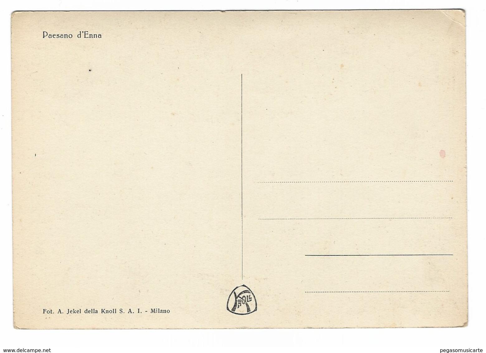 2628 - ENNA PAESANO D' ENNA 1940 CIRCA - Enna