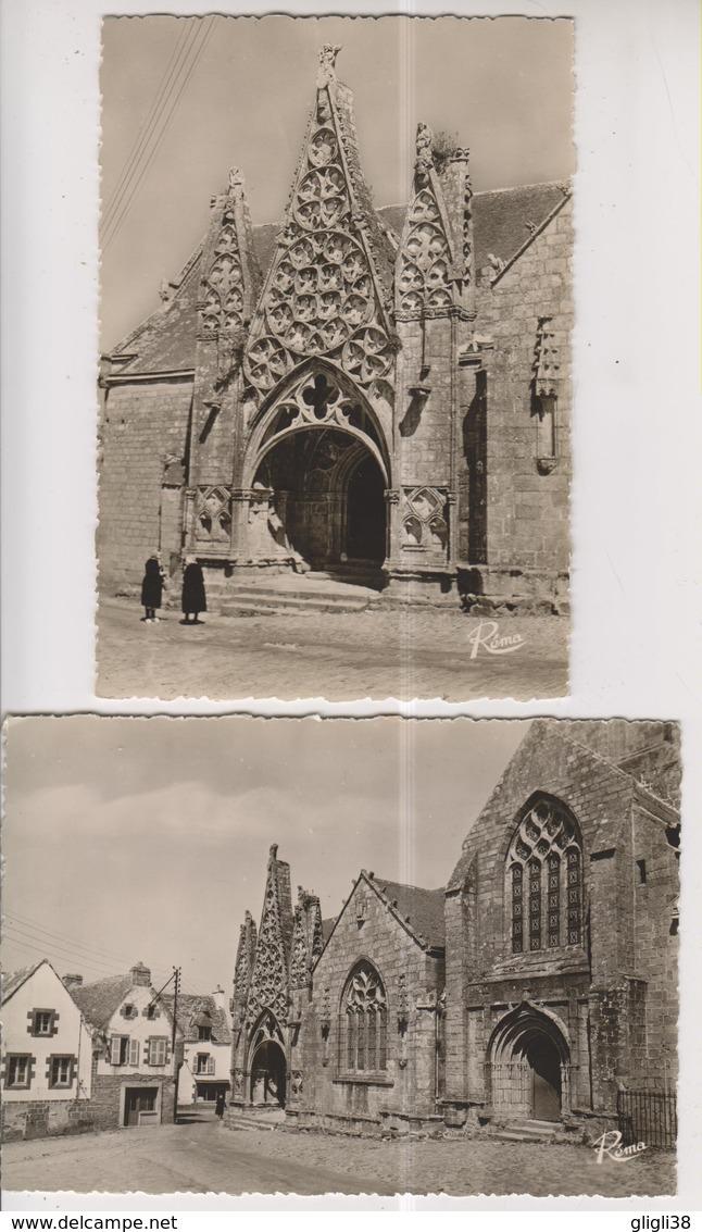 CPSM-Grand Format-29- Finistère- PONT-CROIX- Eglise Notre Dame De Roscudon- 2 CPM- - Pont-Croix