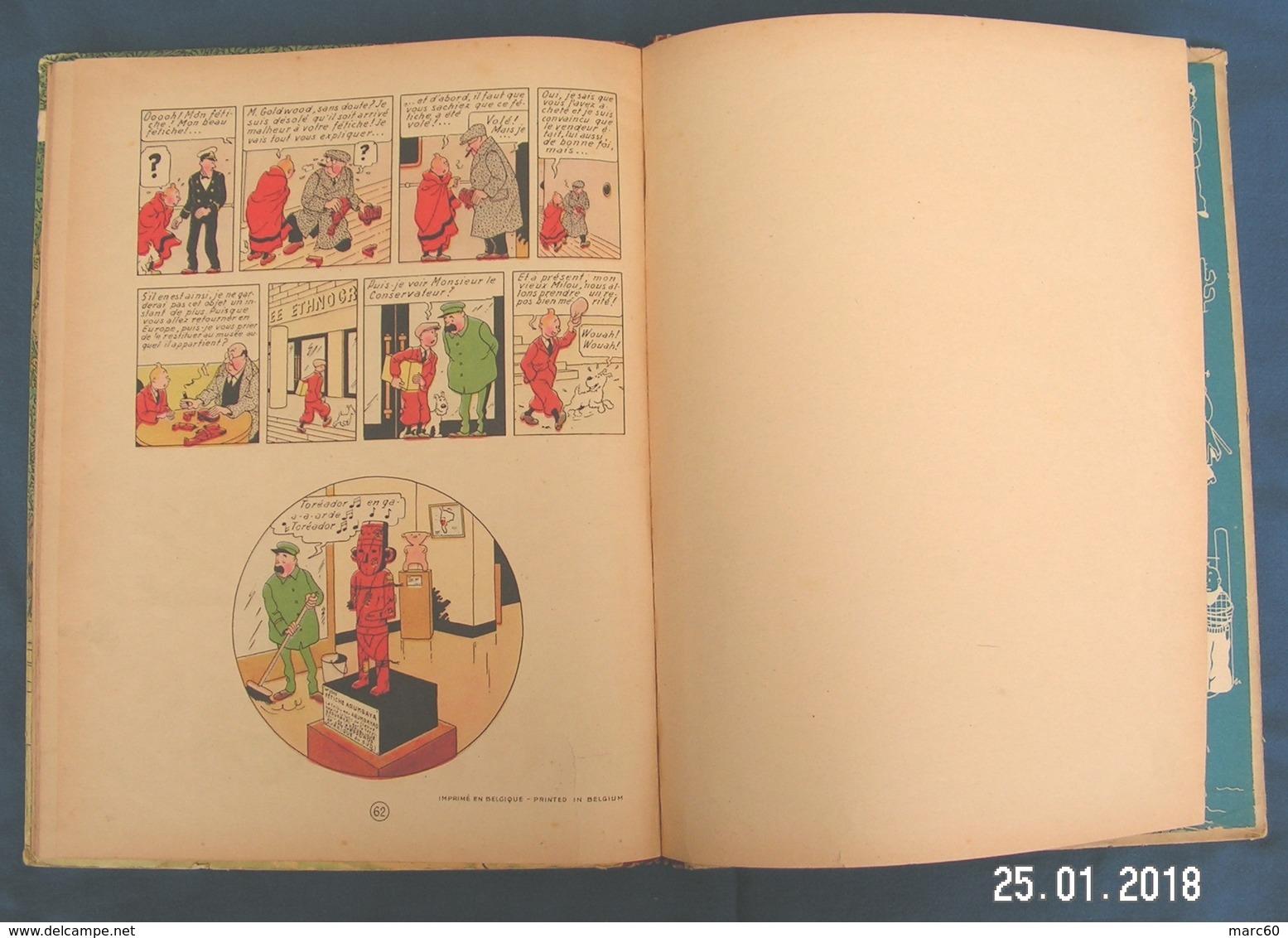 TINTIN - L'Oreille Cassée - HERGÉ - ÉO De 1943 - Cote De 3.500 Euros à L'Argus BDM - Edité Censure 2ème Guerre Mondiale - Tintin