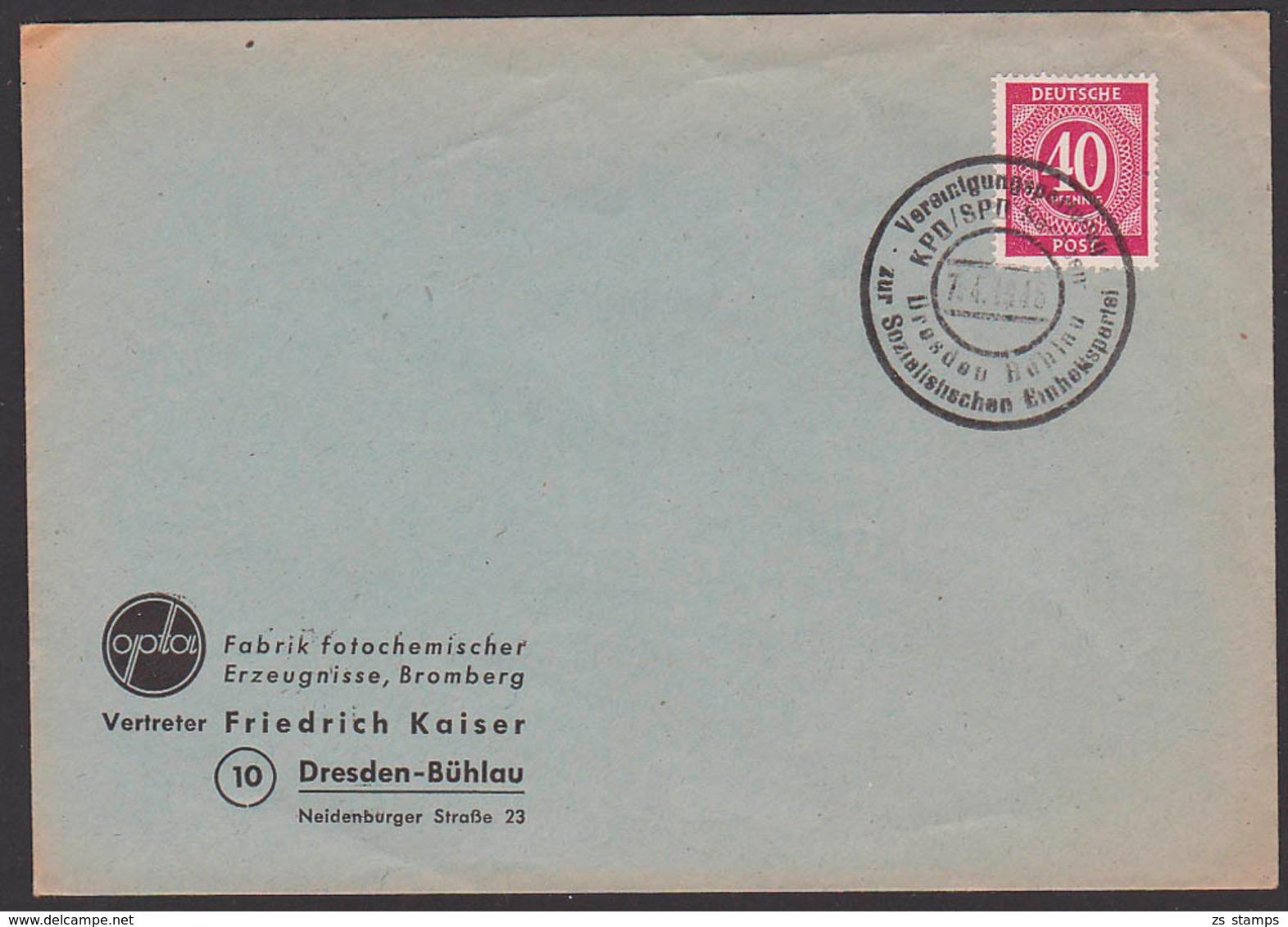 Partei Vereinigungsparteitag KPD/SPD Dresden Bühlau Zur SED Sozialistischen Einheitspartei Deutschlands 7.4.1946 - DDR