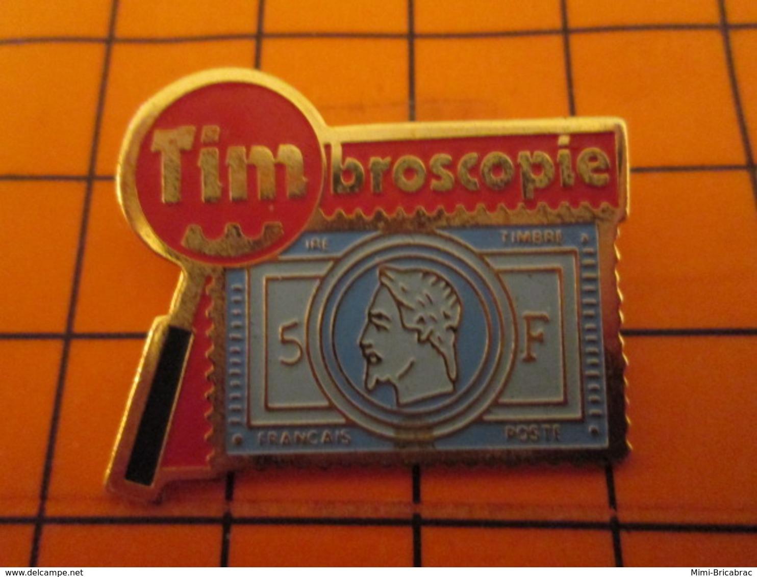 0220 Pin's Pins / Beau Et Rare : Thème POSTES / LA POSTE TIMBROSCOPIE TIMBRE-POSTE NAPOLEON III - Mail Services
