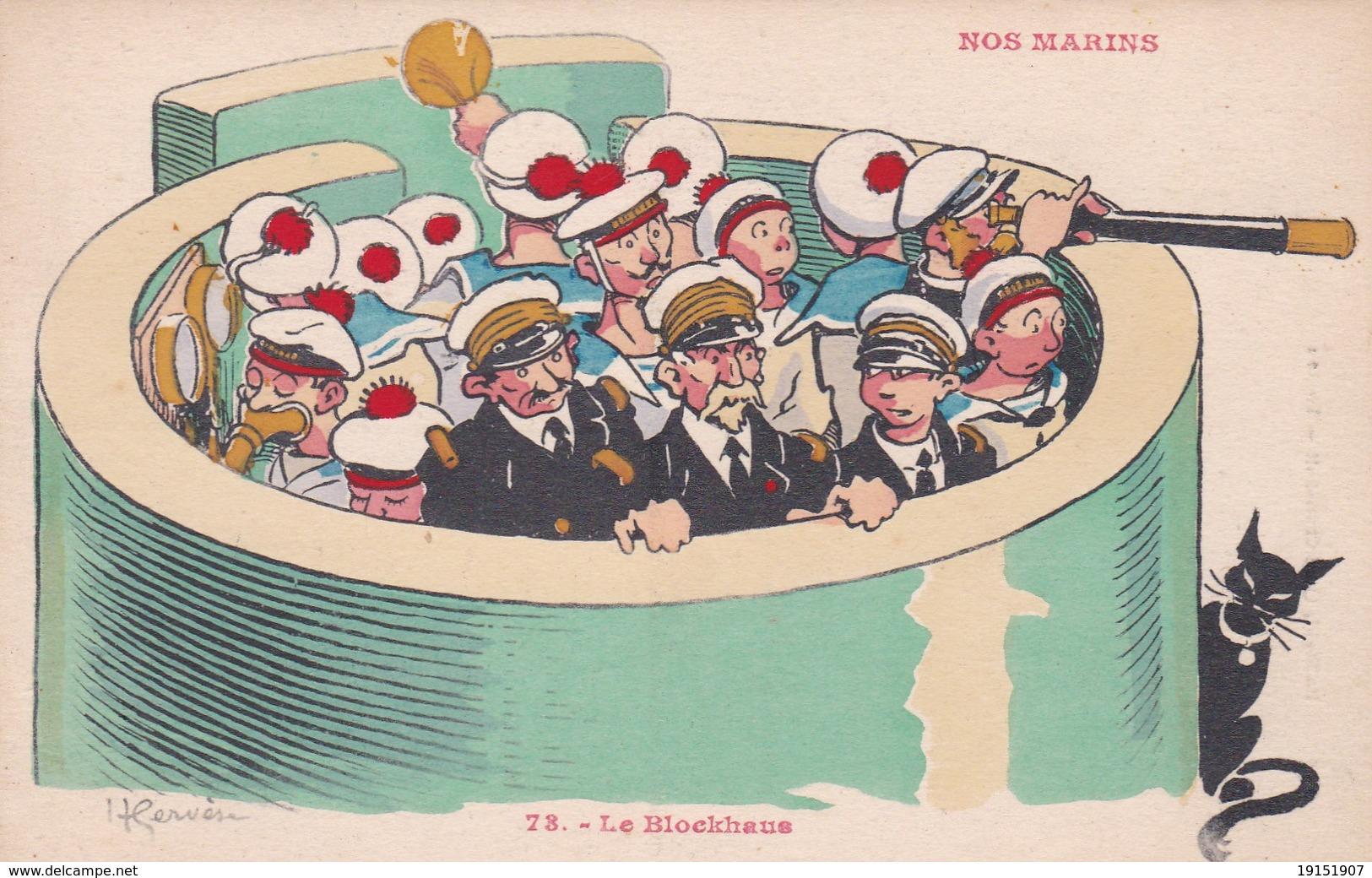 ILLUSTRATEUR  H  GERVESE  NOS MARINS  N° 73  LE BLOCKHAUS - Gervese, H.
