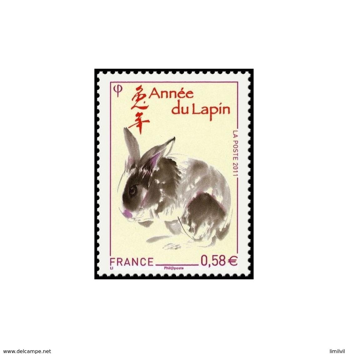 Timbre N° 4531 Neuf ** - Année Chinoise Du Lapin. Lapin Et Idéogramme. - Nuovi