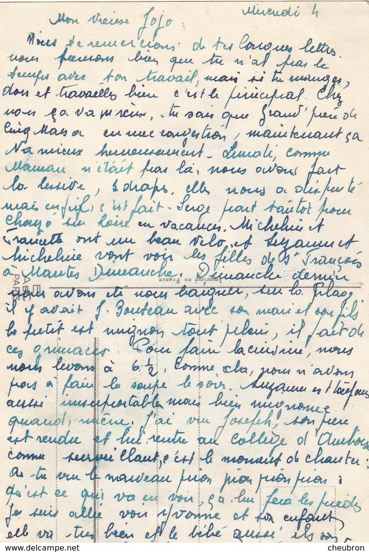 """CARTE FANTAISIE  GERMAINE BOURET. LES RAMONEURS """" Vite Passe Moi L'lasso...y A Un Gigot Pépère Sur Le Buffet !."""".+ TEXTE - Bouret, Germaine"""