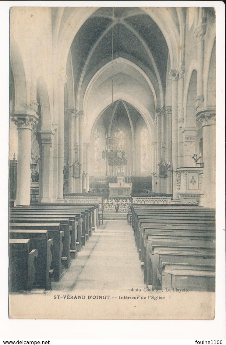 Carte De SAINT VERAND D' OINGT Intérieur De L' église ( Bois D'oingt ??? ) ( Photo Combier La Clayette ) - France