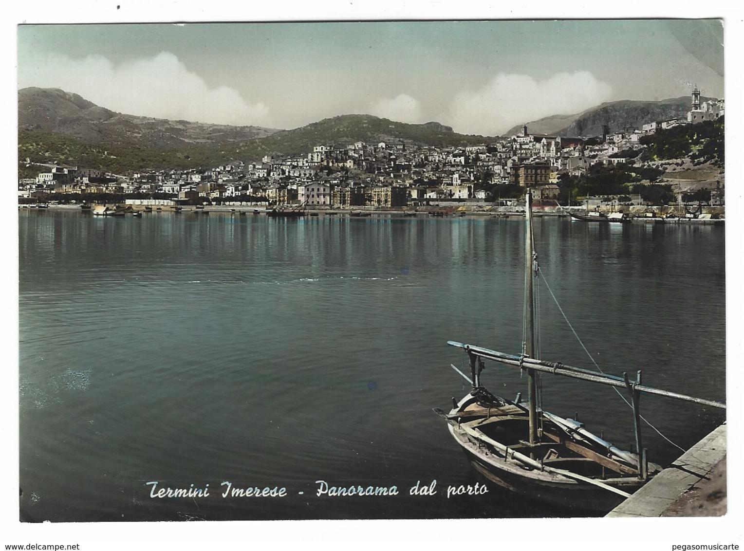 2660 - TERMINI IMERESE PALERMO PANORAMA DAL PORTO 1950 CIRCA - Altre Città