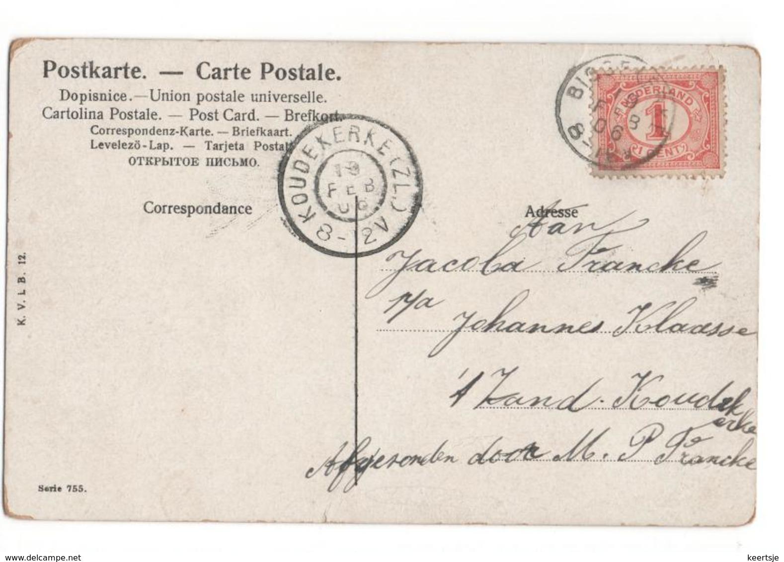 Biggekerke Kleinrond - Koudekerke Grootrond - 1906 - Poststempel