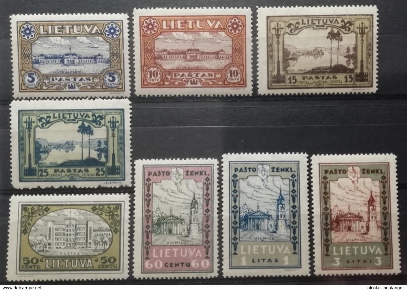 Lituanie 1932 / Yvert N°303-310 / * - Litauen