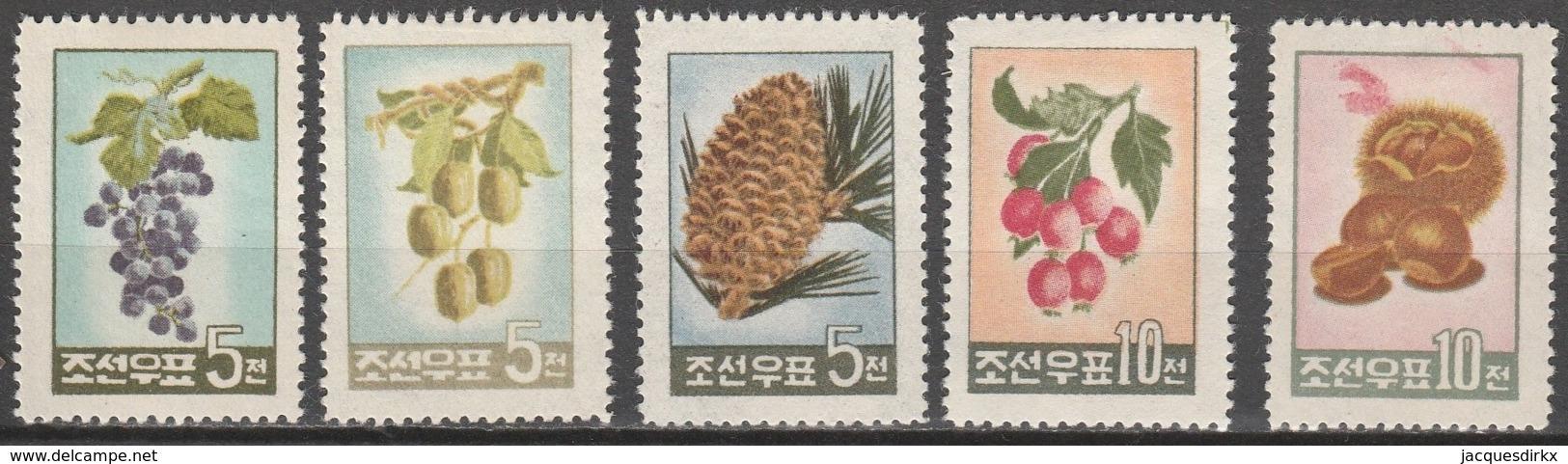 Nord Korea       .     Yvert    .   209/213       .       *       .    Ungebraucht   .   /   .   Mint-hinged - Korea (Nord-)
