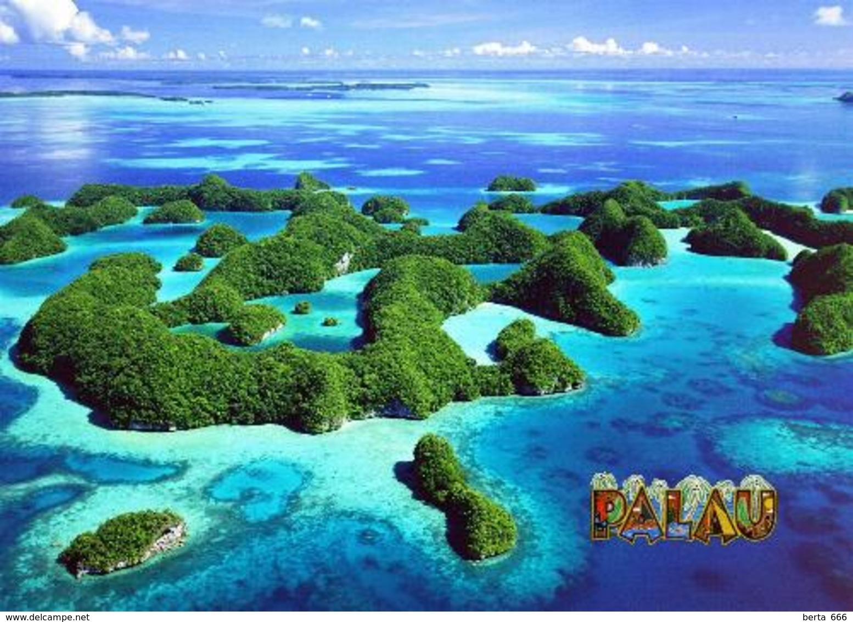 Palau Southern Lagoon Aerial View UNESCO New Postcard - Palau