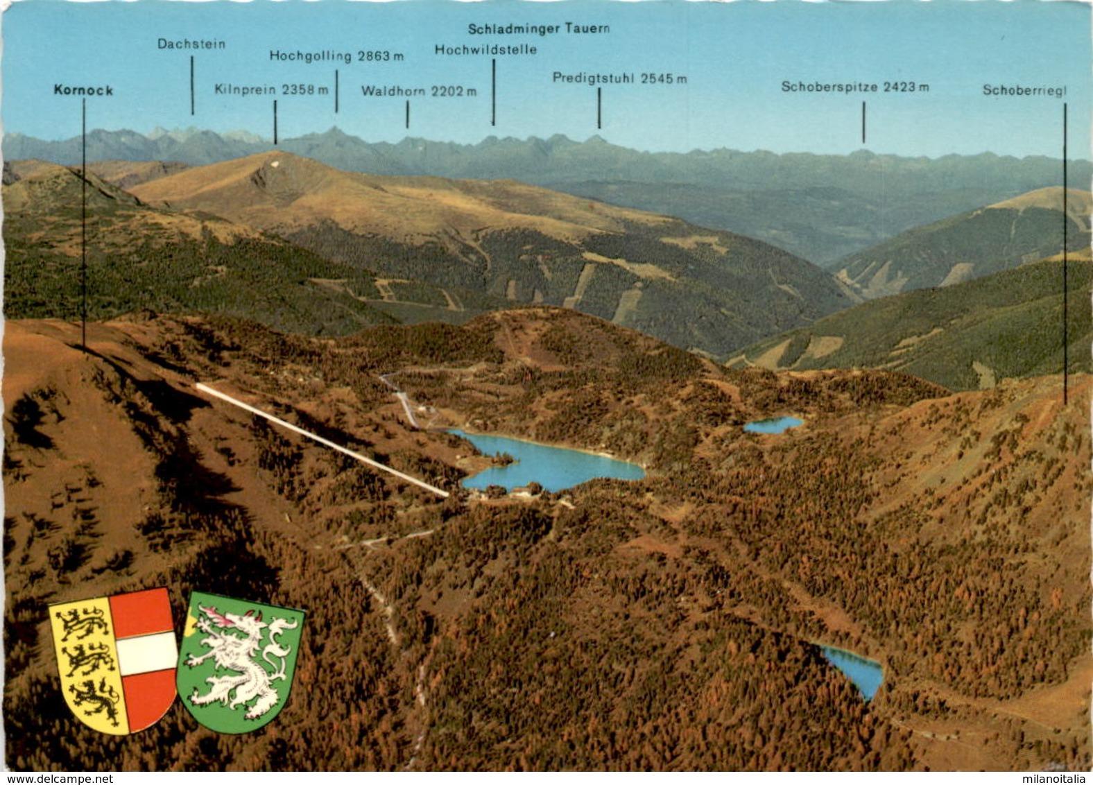 Turracherhöhe 1763 M - Turracher-, Grün- Und Schwarzsee Mit Schladminger Tauern (4/433) - Austria