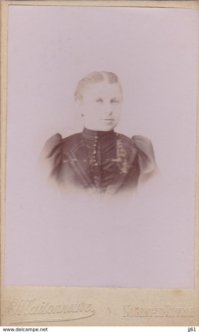 NOGENT LE ROTROU MAISONNEUVE PHOTOGRAPHE PHOTO CDV CARTONNER ANNEE 1900 1910 - France