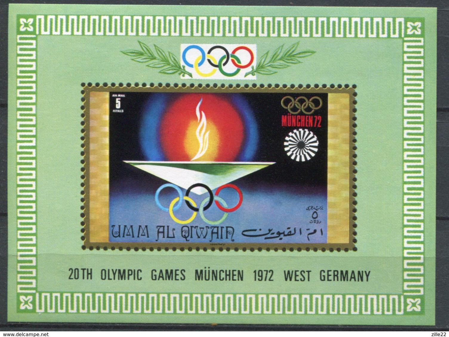 V.A.E. Umm Al Qiwain Mi# Block 33 Postfrisch MNH - Olympics München 1972 - Umm Al-Qiwain