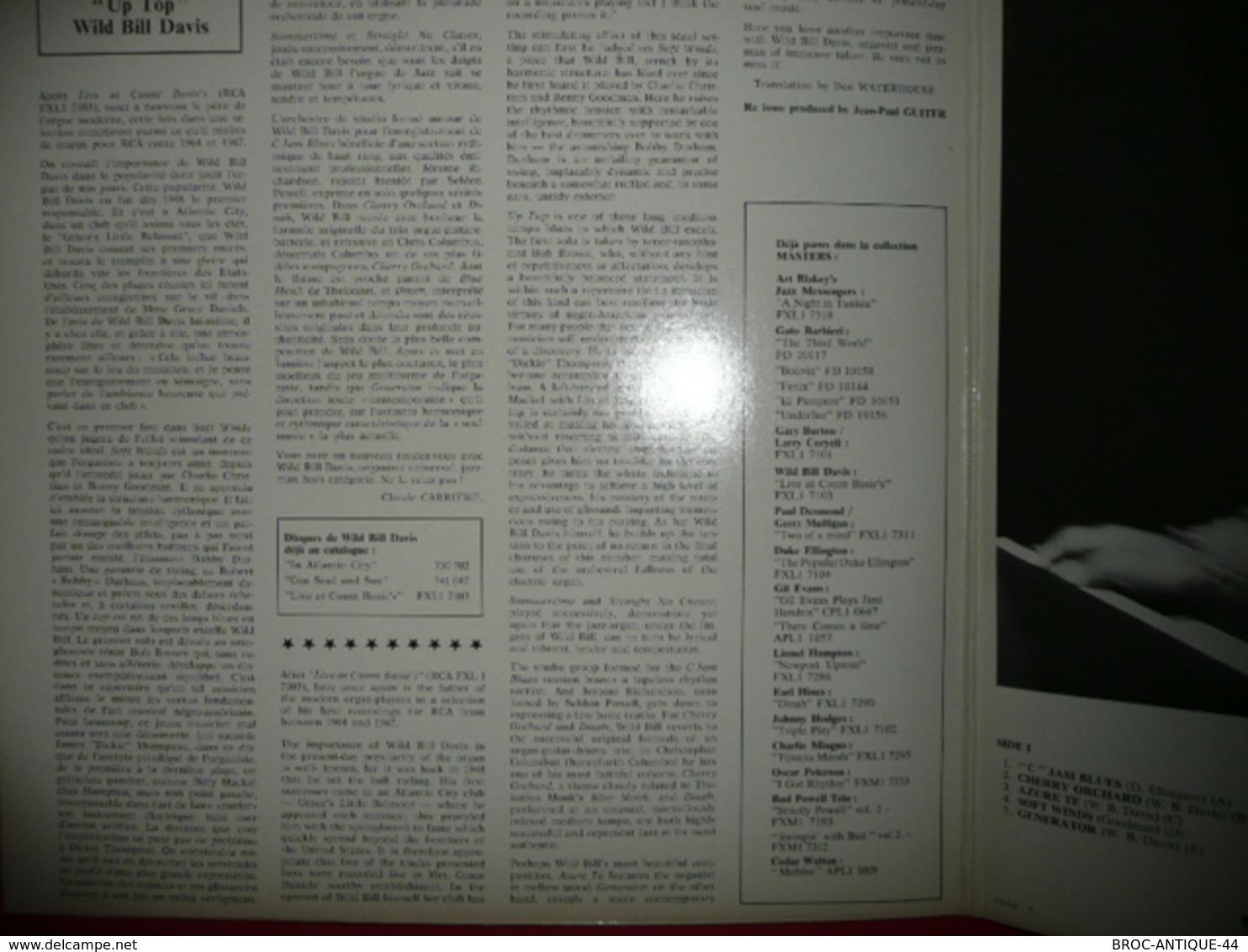 LP N°1661 - WILD BILL DAVIS - UP TOP - COMPILATION 10 TITRES - Jazz