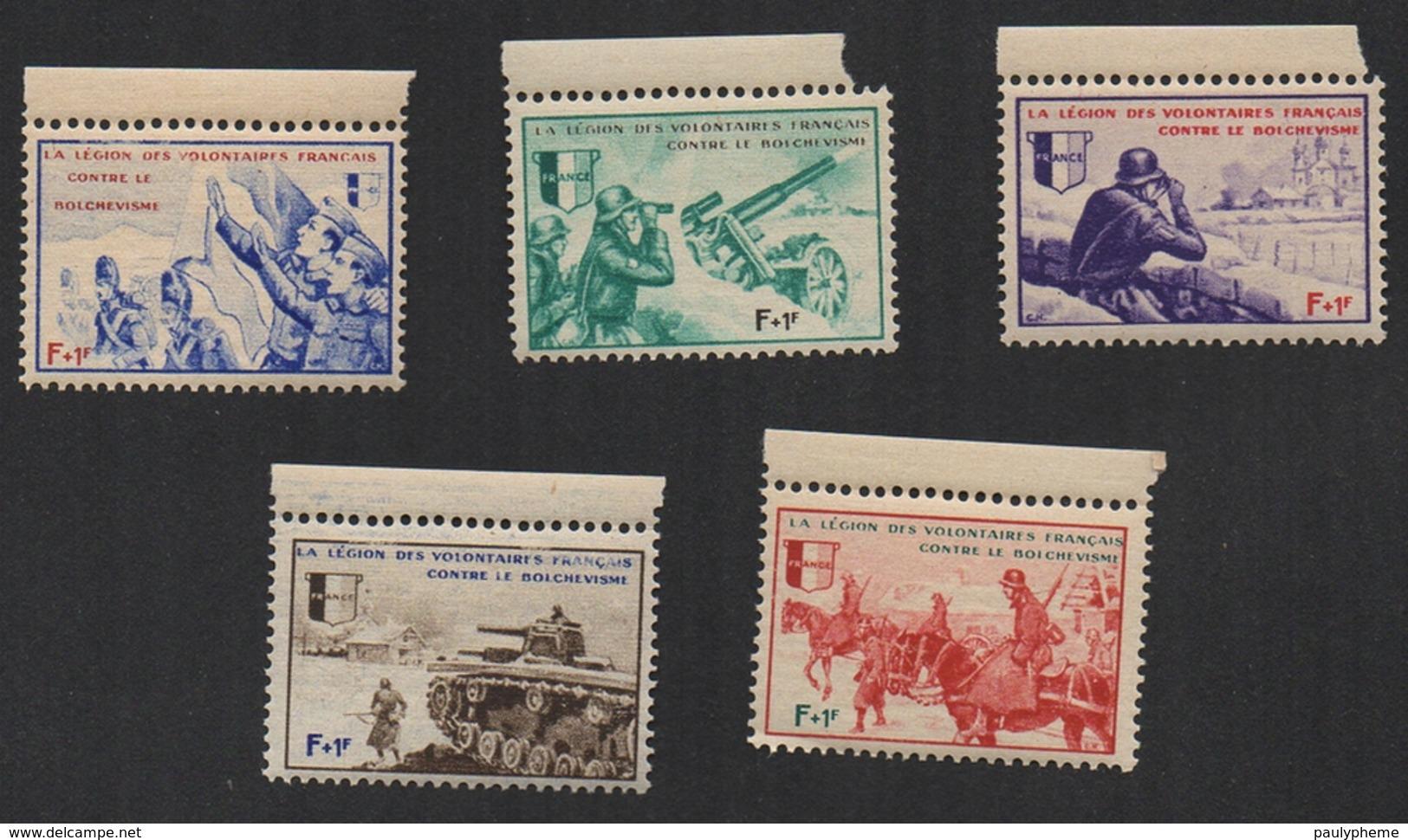 FRANCE 1942 Vignettes LVF Légion Des Volontaires Français Série BORODINO Neufs - Franchise Stamps