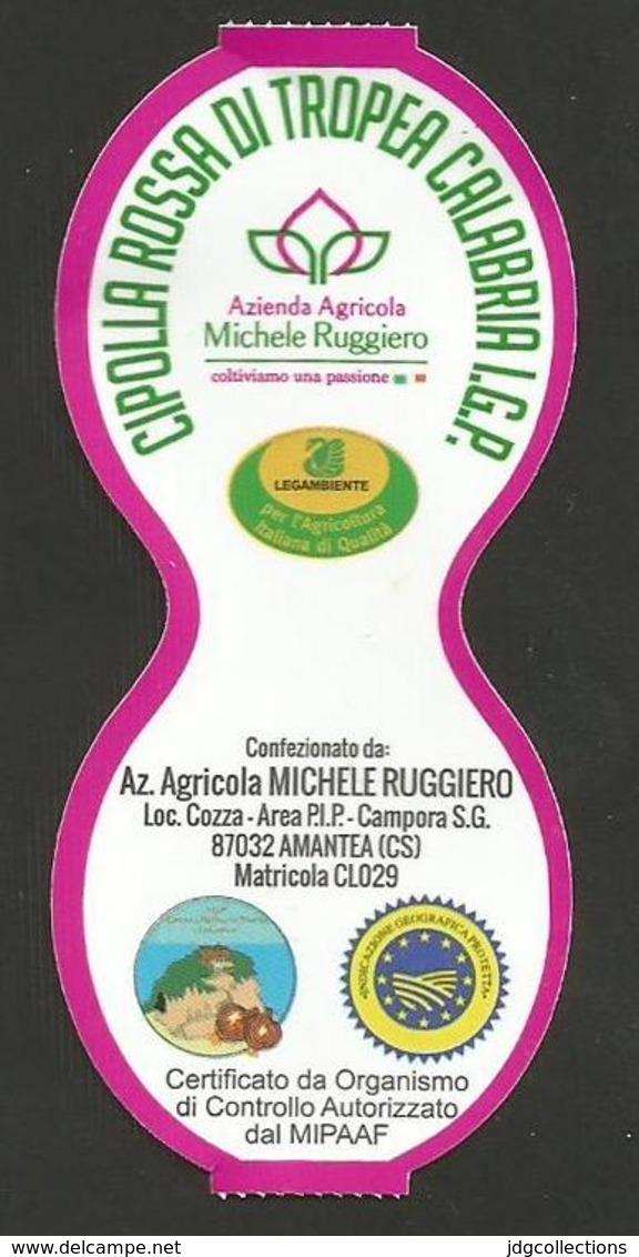 # CIPOLLA ROSSA TROPEA RUGGIERO Type 1 Italy Tag Balise Etiqueta Anhänger Cartellino Oignon Zwiebel Onion Legume Gemuse - Fruits & Vegetables