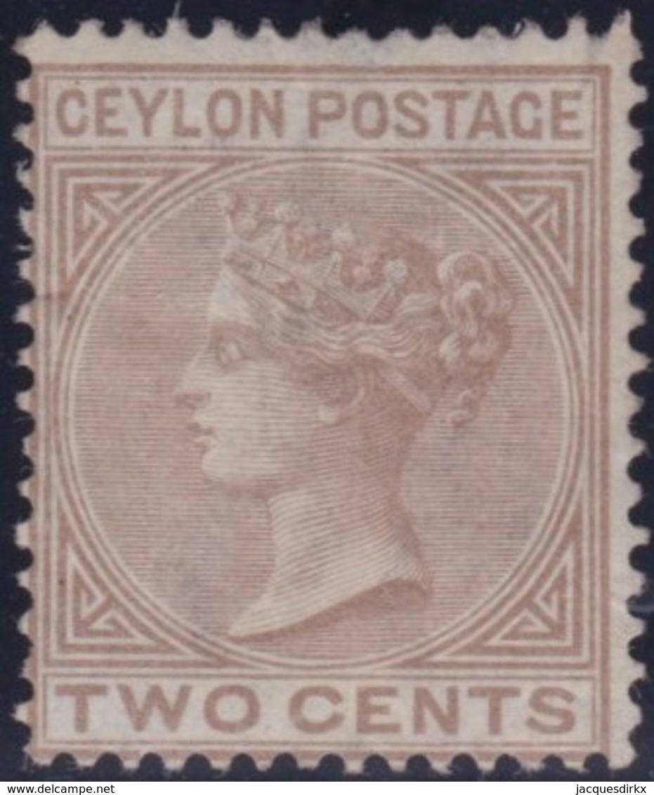 Ceylon     .    SG   .     121       .   (*)      .     No Gum      .   /   .   Geen Gom - Ceylon (...-1947)