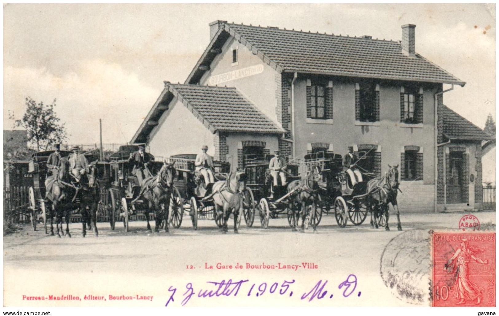 71 La Gare De BOURBON-LANCY Ville - Francia